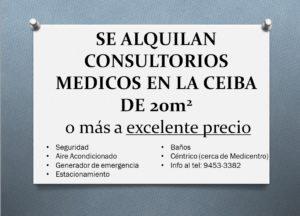 Se alquilan Consultorios Médicos en La Ceiba, Honduras.