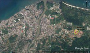 mapa de ubicación Residencial Andalucia II La Ceiba Honduras