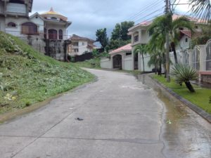 Calle frente al terreno vista hacia el sur