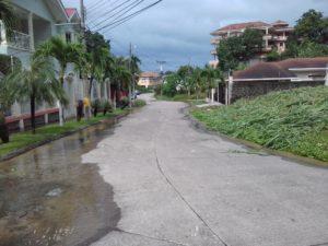 Calle de acceso desde el norte